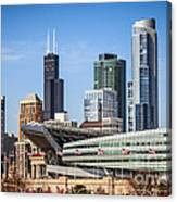 Chicago Skyline With Soldier Field And Sears Tower  Canvas Print