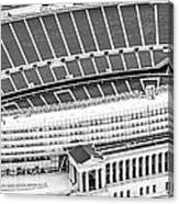 Chicago Soldier Field Aerial Panorama Photo Canvas Print