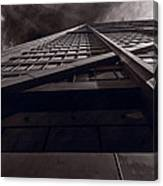 Chicago Structure Bw Canvas Print