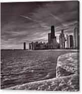 Chicago Sunrise Bw Canvas Print