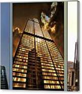 Chicago Tall Shoulders Trump Sears 333 W Wacker Triptych 3 Panel 01 Canvas Print