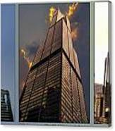 Chicago Tall Shoulders Trump Sears 333 Wacker Triptych 3 Panel 03 Canvas Print