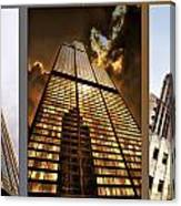 Chicago Tall Shoulders Trump Sears Tribune Triptych 3 Panel 02 Canvas Print