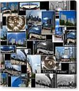 Chicago The Bean Collage Canvas Print
