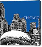 Chicago The Bean - Royal Blue Canvas Print