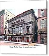 Chicago - The Illinois Theatre - East Jackson Boulevard - 1910 Canvas Print