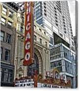 Chicago Theater Facade Northside Canvas Print