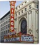 Chicago Theater Facade Southside Canvas Print