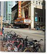 Chicago Theater Marquee Sign On State Street Canvas Print