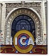 Chicago Theater Marquee Canvas Print