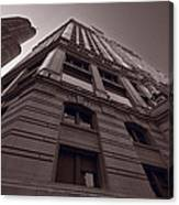 Chicago Towers Bw Canvas Print