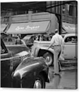 Chicago Traffic, 1941 Canvas Print