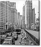 Chicago Triptych 3 Panel Black And White Canvas Print