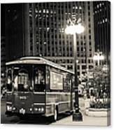 Chicago Trolly Stop Canvas Print