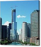 Chicago Trump Tower Under Construction Canvas Print