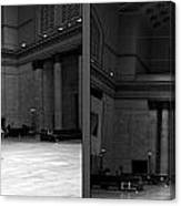 Chicago Union Station The Great Hall 2 Panel Bw Canvas Print