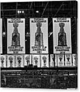 Chicago United Center Banners Bw Canvas Print