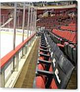 Chicago United Center Before The Gates Open Blackhawk Seat One Canvas Print