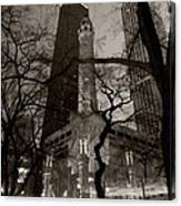 Chicago Water Tower B W Canvas Print