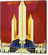 Chicago World Fair A Century Of Progress Expo Poster  1933 Canvas Print