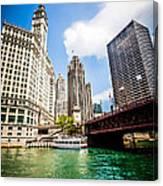 Chicago Wrigley Tribune Equitable Buildings Photo Canvas Print