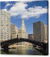 Chicagobridge Up Canvas Print