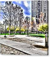 Chicago's Jane Addams Memorial Park From The Series The Imprint Of Man In Nature Canvas Print