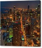 Chicagos Magnificent Mile Canvas Print