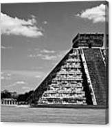 Chichen Itza Blk Wht Canvas Print