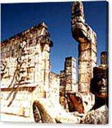 Chichen Itza - Chac Mool Guardian Canvas Print