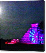 Chichen Itza Full Moon Canvas Print