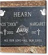 Chick Hearn Grave Canvas Print