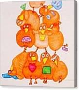 Chickadee Chick 10 Canvas Print