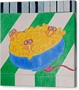 Chickadee Chick Macaroni Canvas Print