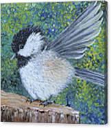 Chickadee Landing Canvas Print