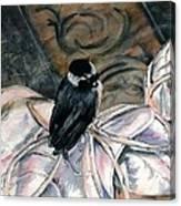 Chickadee On A Sneaker Canvas Print