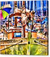 Chico Sail Boat By Diana Sainz Canvas Print