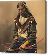 Chief Bone Necklace Of The Lakota 1899 Canvas Print