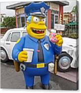 Chief Clancy Wiggum From The Simpsons Canvas Print