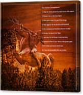 Chief Shabbona And The Ten Indian Commandments Canvas Print