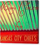 Chiefs Christmas Canvas Print