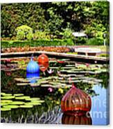 Chihuly Ball Lily Pond Canvas Print