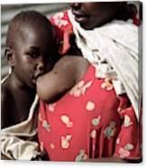 Child Breastfeeding Canvas Print