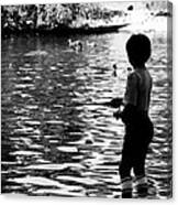 Child Fishing Canvas Print