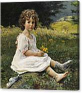 Child In The Meadow Canvas Print