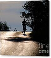 Child On Bicycle, Italy Canvas Print