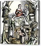 Childbirth, 1499 Canvas Print