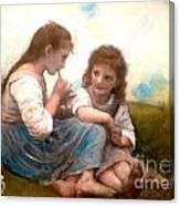 Childhood Idyllic By Bouguereau Canvas Print