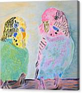 Childhood Parakeets Canvas Print