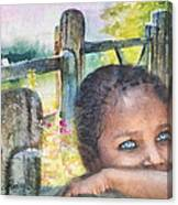 Childhood Triptic Canvas Print